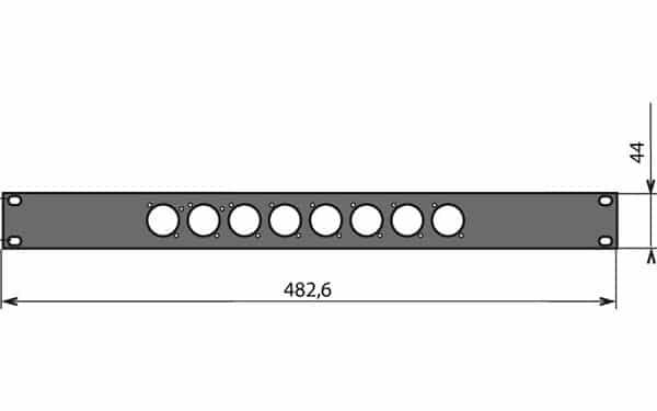 Panneau patch 1U – 8 embases