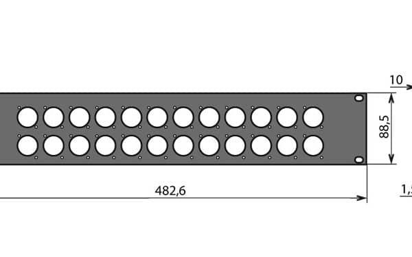 Panneau patch 2U – 24 embases