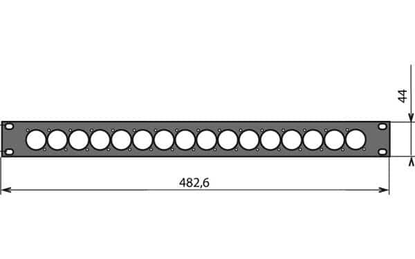 Panneau patch 1U – 16 embases