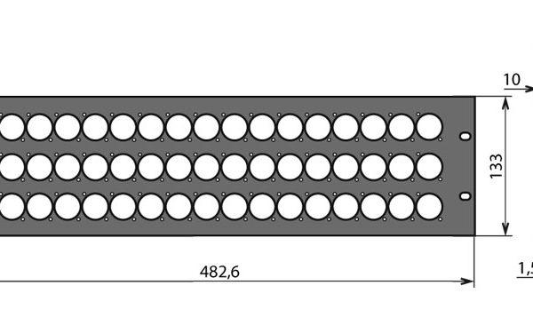 Panneau patch 3U – 48 embases