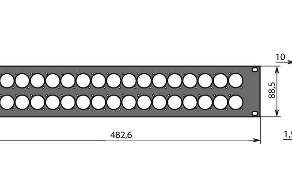 Panneau patch 2U – 32 embases