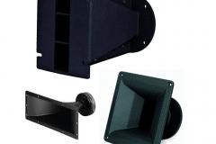 Pavillons et guide d'onde pour Chambres de compression